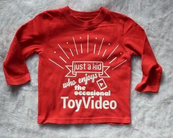 Gender neutral Toy Video custom tee