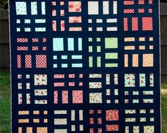 Cake Slices - digital quilt pattern - layer cake quilt pattern - a modern pattern - baby, lap, and queen sizes