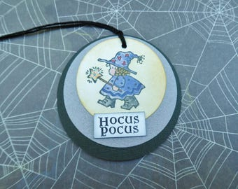 Hocus Pocus Halloween Tag -- Halloween Tag -- Witch Tag -- Halloween Gift Tag