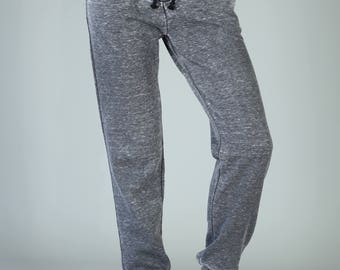 Acid Wash Burnout Jogger Sweatpants, Vintage Charcoal Gray