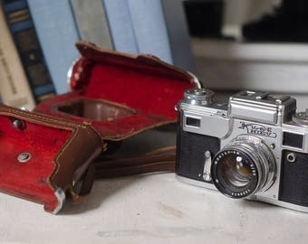 Film camera Vintage camera for dad gift for him Gift for photographer Retro camera Old working camera Soviet camera original camera case