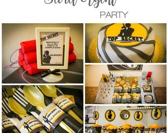 Secret Agent printable party