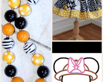 Disney Safari Minnie outfit Minnie Mouse safari skirt set with matching necklace Zebra Minnie shirt Disney size 2t 3t 4t 5 6 8 10 12 girls