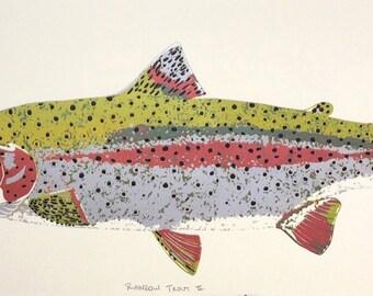 Rainbow Trout Silkscreen Print
