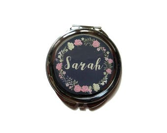 Bridesmaid Mirror Compacts - Name mirror - Personalized Bridesmaid Gifts - Unique Bridesmaid Compact Mirror - Personalized Gifts for Women