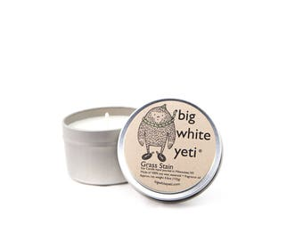 Grass Stain Soy Candle- 6 Ounce Tin