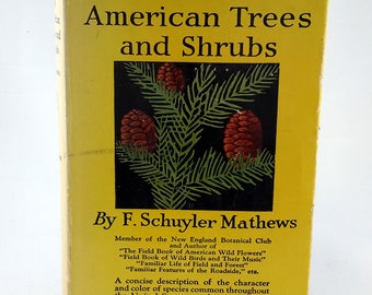 Field Book of American Trees and Shrubs, Mathews, 1915, Dust Jacket
