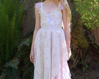 Petal Gown... child flower girl dress boho bohemian whimsical woodland fairy tale ethereal