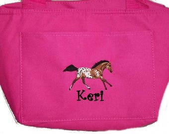 Free Shipping - Personalized Appaloosa Horse Lunch Bag - More Colors - monogrammed - NEW