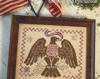 Blackbird Designs - Liberty Eagle - Sampler and Pincushion - Counted Cross Stitch Chart