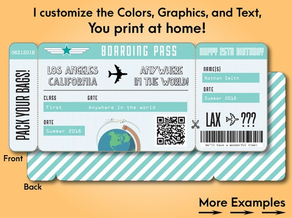 Like This Item?  Printable Fake Airline Tickets