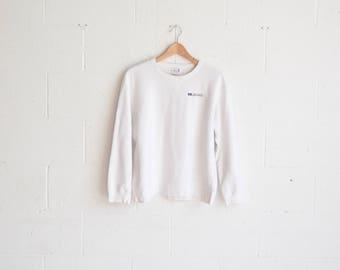 White Calvin Klein Pullover Crewneck · White CK Jeans Sweater · Calvin Klein Logo Top · Calvin Klein Crewneck · Calvin Klein Sweater · M