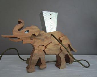 Puzzle Elephant lamp