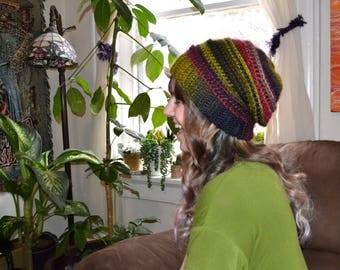 Slouchy Crochet Riptide Beanie
