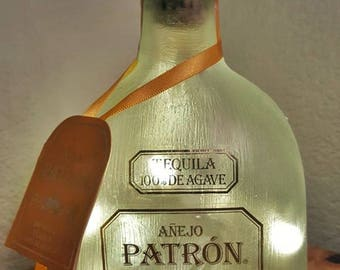 Anejo Patron Tequila Bottle Lamp/Light with LED Lights