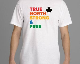 LQBTQ+ PRIDE T-Shirt - True North Strong & Free, Canada