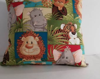 Zoo animals kids pillow/ animals pillow kids / kids animal pillows/ children's pillows/ zoo animal pillows/kids pillows/pillows for kids