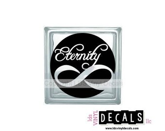 Eternity - LDS Vinyl Lettering for Glass Blocks - Craft Decals