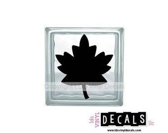 Autumn Leaf - Fall Vinyl Lettering for Glass Blocks - Canadian Craft Decals