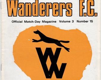 Vintage Football (soccer) Programme - Wolverhampton Wanderers v Norwich City, FA Cup, 1970/71 season
