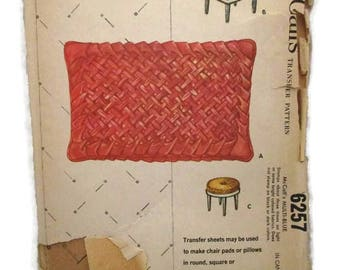 McCalls 6257 Lattice Smocking 12X18 Pillow and Two 36X54 Transfer Sheets UNCUT