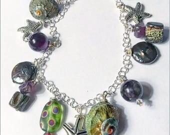 Amethyst Nautical Bracelet