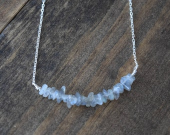 labradorite chip necklace
