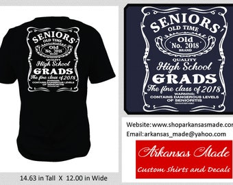 Senior 2018, contains high levels of senioritis, class of 2018 shirt, 2018 grad shirt, graduation shirt, Senior shirt, 2018 shirt, to 4x