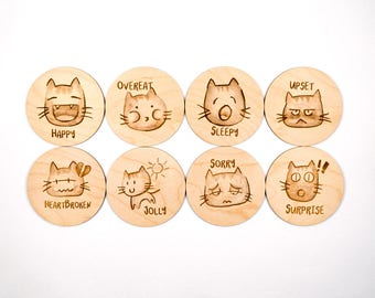 Cat Coasters (set 1)