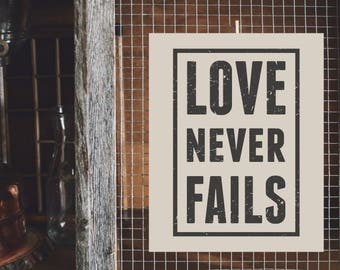 Living Room Art Print: Love Never Fails - 8 x 10 in.