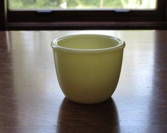 Vintage McKee,Jeannette Seville Yellow Depression Glass Custard Cup, Egg Cup, Yellow Ivory Jadeite,Jadite,McKee,Jeannette Seville Yellow Cup