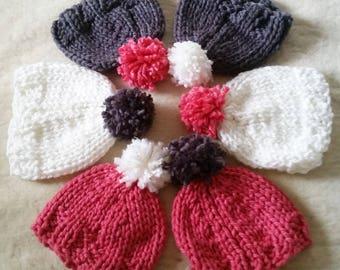 Knitted Neapolitan Beanies