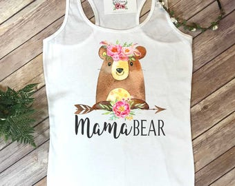 Mama Bear, Mommy and Me shirts, Mommy and Me Outfits, Baby Shower Gift, Baby Bear, Mom Shirts, Family Outfits, New Mom Gift, Boho Mama Bear