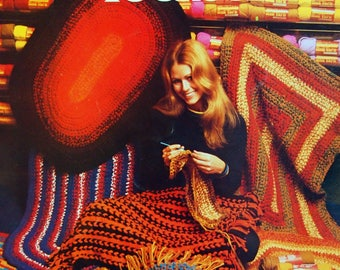 Rugs To Crochet Leaflet 2537 By Columbia Minerva Vintage Crochet Pattern Leaflet 1971