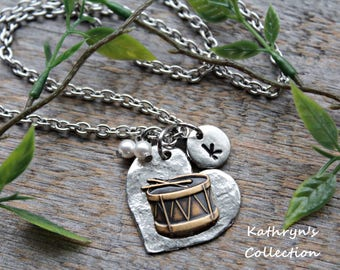 Drum Necklace, Drummer, Gift for Drummer, Marching Band, Snare Drum