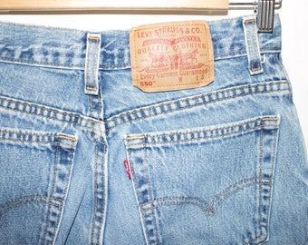 vintage LEVIS 550 jeans - 80s / 90s - high waisted jeans  - tapered leg - womens size 10