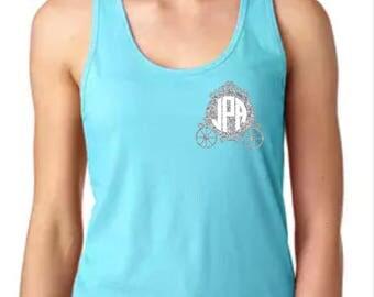 Disney Shirts // Cinderella Shirt // Princess Shirt // Carriage Monogram Shirt // Disney Shirts for Women // Disney shirts for kids