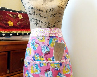 Beauty and The Beast Comic Half Apron / PINK / Long