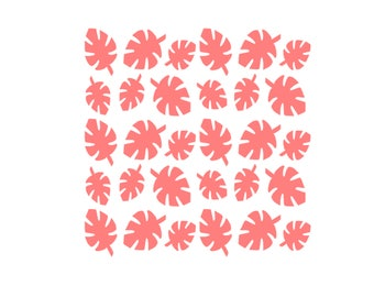 Tropical Leaf Stencil, Tropical Leaves Stencil, Luau Stencil, Leaves Cookies Stencil, Leaves Cake Stencil, 5.5 x 5.5, Palm Frond Stencil