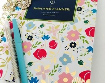 Simplified Planner Circle Monogram Decal Sticker | Weekly Simplified Planner Monogram | Daily Simplified Planner Monogram | Gold Foil Decal