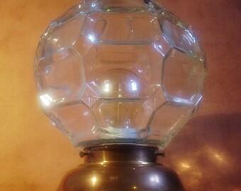 Vintage Octagonal Geometric Glass Globe Ceiling Lamp
