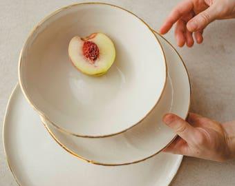 gr ne teller porzellan geschirr keramik geschirr modern. Black Bedroom Furniture Sets. Home Design Ideas