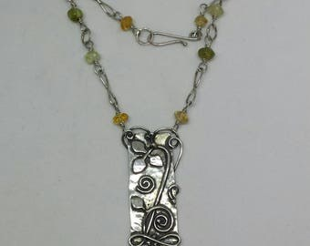 Sterling Silver New Growth necklace.