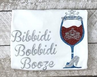 Food and Wine Shirts/Bibbidi Bobbidi Booze Shirt/Cinderella/Princess Food and Wine/Epcot Food and Wine Shirts/Disney World/Disneyland/Disney