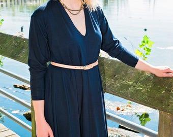 Eleanor V Neck Swing Dress