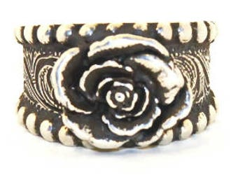 Rockin Out Jewelry - Rose Ring - Western Rings - Sterling Silver - Classy Jewelry - Gift For Her - Valentines Rings - Western Elegance