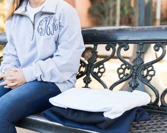 Monogram Pullover - Monogram Fleece - Monogram Quarter Zip - Fleece Pullover - Quarter Zip Pullover - Monogrammed Pullover - Monogram Jacket