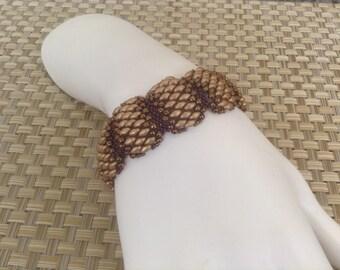 Flat Celliniwith SuperDuo Bracelet