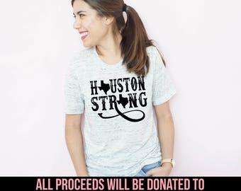 Houston Strong Unisex T-Shirt, Hurricane Harvey, 100% of profits donated, Houston Relief, Houston Fundraiser, Texas Pride, Hurricane Shirt
