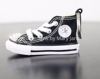 Converse Key Chain-Swarovski Crystal shoe-Bling Key Chain-Back Pack Bling, Shoe Key Chain,